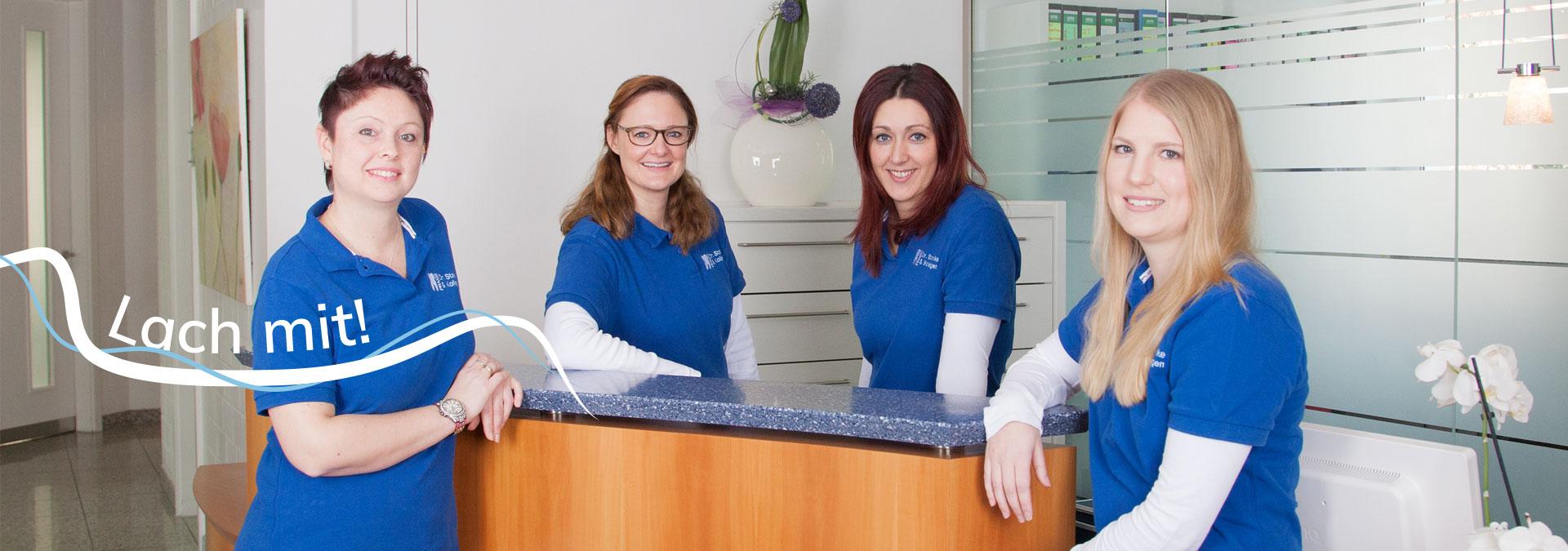 Lach mit - Dr. Stanke & Kollegen - Ihre Zahnarztpraxis mit eigenem Dentallabor in Hamm.