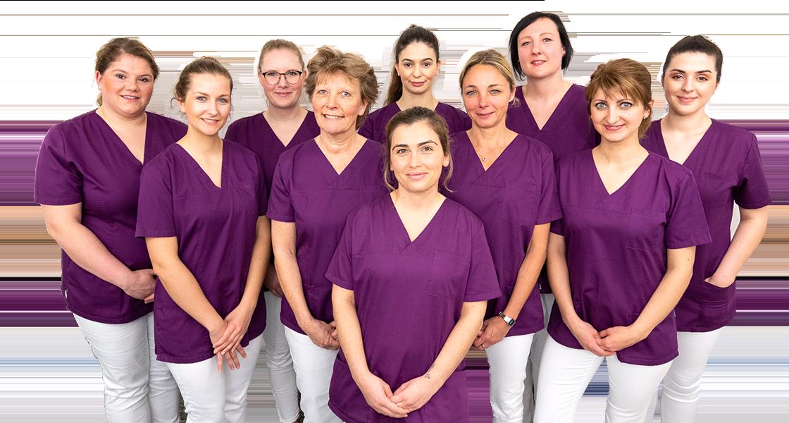 Team Stuhlassistenz - Dr. Stanke & Kollegen - Ihre Zahnarztpraxis mit eigenem Dentallabor in Hamm.